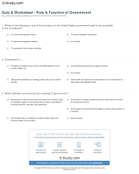 quiz u0026 worksheet role u0026 function of government study com