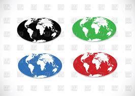 World Map Vector Stylized Globe World Map Vector Image 67977 U2013 Rfclipart