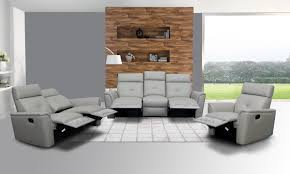 Leather Reclining Living Room Sets Leather Living Room Set With Tufted Stitching Elements Los
