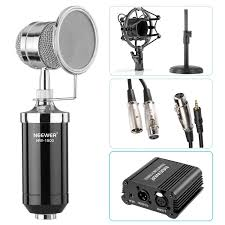 neewer nw 1500 desktop condenser microphone 48v phantom power