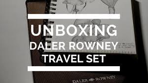 unboxing daler rowney sketching travel set youtube