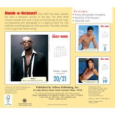 Desk Daily Calendar Hunk 2018 Desk Calendar 764453002454 Calendars Com