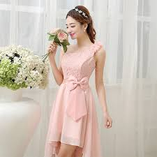 blush pink bridesmaid dresses high low pink bridesmaid dress chiffon lace sweetheart sleeveless