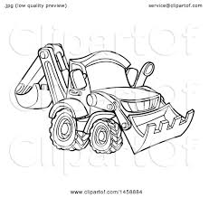 clipart of a black and white bulldozer royalty free vector
