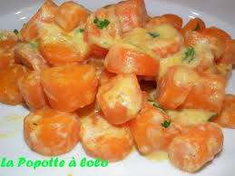 cuisiner des carottes en rondelles carottes à la crème thermomix la popotte