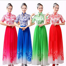 traditional chinese costume female full dress guzheng costume