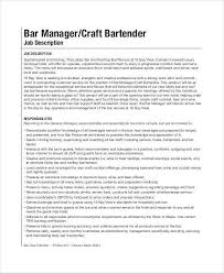 sle resume for bartender position descriptions bartender description hitecauto us