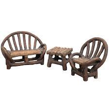 Garden Chairs Png Appalachian Bench Set Fairy Garden Furniture