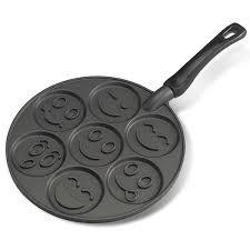 smiley face emoji pancake pan breakfast kids pancake pan and smiley
