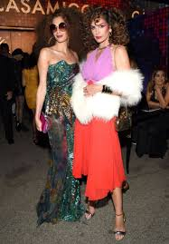 amal clooney and cindy crawford embrace disco fever with their
