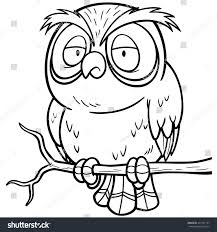 vector illustration cartoon owl sitting on stock vector 297147167