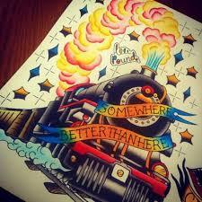 31 traditional train tattoos