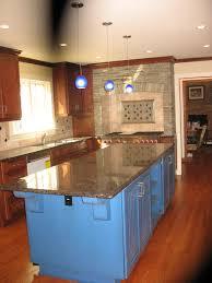 classy large stacked stone backsplash for modern kitchen with