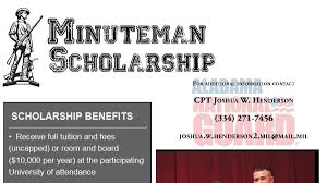 alabama national guard offers several scholarships