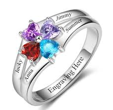 family ring 4 circled hearts engraved s family ring think engraved