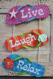 Live Laugh Love Signs Live Laugh Relax Flip Flops Sign Surf Decor And Flip Flop Sandals