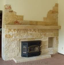 Yellow Fireplace Splitface Sandstone Fireplace Design Yellow Sandstone Fireplace