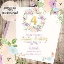 pink birthday invitation first birthday invitation girls