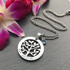 s day necklace with children s names tree of necklace mothers day gift personalised necklace
