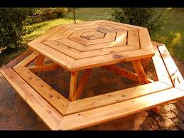 Plans For Round Wooden Picnic Table by How To Build A Picnic Table How To Build A Planter Box