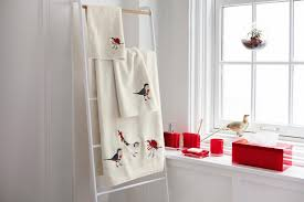 christmas bird towels simons maisonsimons decor christmas