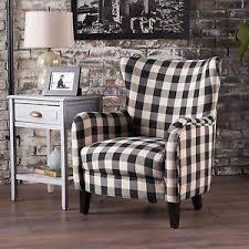 Gingham Armchair Plaid Chair Ebay