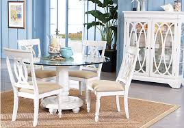 shop for a cindy crawford home seaside white 5 pc glass top dining