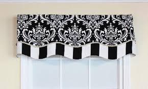Black And Cream Damask Curtains Royal Damask Glory Valance Rlf Home