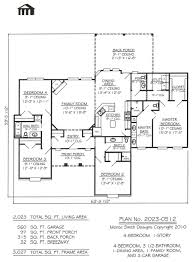 plan no 2023 0512 4 bedroom 1 story house plan
