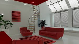 living room interior colors retro red decor design ideas idolza