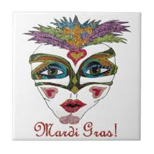 ceramic mardi gras masks mardi gras mask ceramic tiles zazzle
