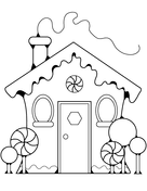 xmas gingerbread house coloring free printable coloring pages