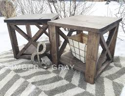 Coffee End Tables Rustic Endtable White Diy End Table Farmhouse Coffee