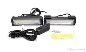 cob led light bar 40w cob led strobe flash warning car light bar 8 modes change