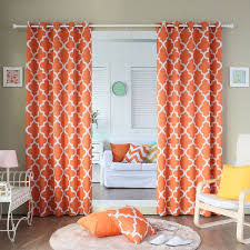 Orange And White Curtains 33 Best Curtains Images On Pinterest Orange Curtains Orange