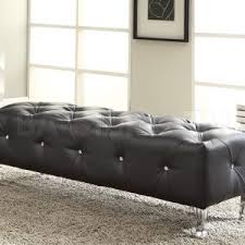 furniture extra long tufted bench for home furniture ideas and