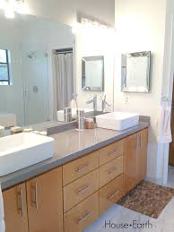 bathroom renovation silestone grey expo counter top white