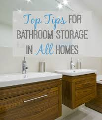 bathroom storage top tips for all room sizes love chic living