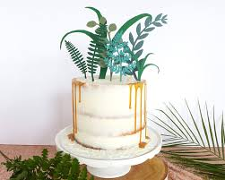 wedding cake greenery greenery wedding cake topper tropical decor foliage cake