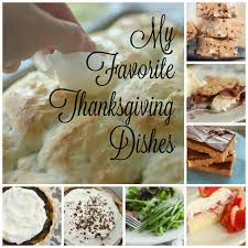 my favorite thanksgiving dishes
