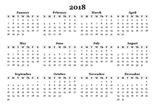 printable calendar year on one page free 2018 yearly calendar download printable yearly calendar templates