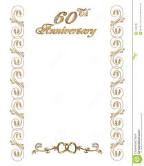 Borders For Invitation Cards Free 60th Anniversary Invitation Border Royalty Free Stock Image