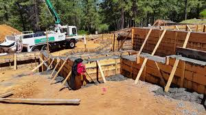 concrete pour basement and stem walls youtube
