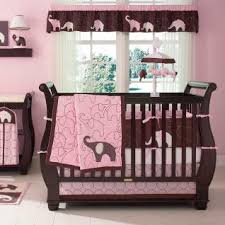 Pink Elephant Nursery Decor Baby Nursery Jungle Pink Brown Safari Spotted Jungle