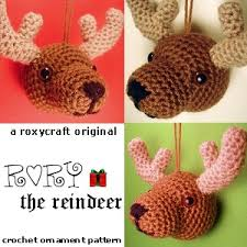 Amigurumi Christmas Ornaments - rory the reindeer