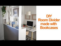 How To Divide A Room Without A Wall How To Make A Temporary Room Divider With Ikea Billy Bookcases To