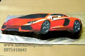 lamborghini car cake rs 1 600 00 the cake express cake delivery