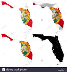 Floridas State Flag Us Florida State Flag Over Map Stock Photo Royalty Free Image