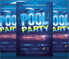 pool invitation template 7 premium
