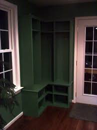 Mudroom Cabinets by Hand Crafted Corner Mudroom Locker By Ss Creative Concepts